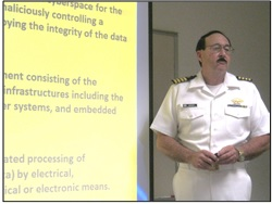 Captain David Moskoff explains the dangers of cyber attacks on US ports and ships to CCICADA researchers.