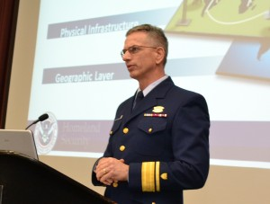 US Coast Guard Rear Adm. Marshall Lytle, a keynote speaker, warned that cyber-attacks are taking place every second of every day. (Photo credit: BiddlePR)