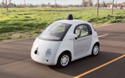 Some expect driverless cars, such as the one seen here, to become nearly ubiquitous by 2025. Photo credit: Automobile Italia