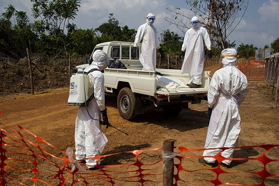Safe burial practices were key to the containment of Ebola in West Africa. Photo credit: UNMEER, Flickr, Creative Commons