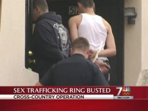 Federal law enforcement agencies in cooperation with state and local law enforcement have arrested many child-sex traffickers in recent years. A data-analytics software tool developed by CCICADA is expected to strengthen law enforcement's efforts to combat sex trafficking of children. Photo credit: FBI, Cross Country Operation IX