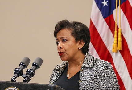a.Attorney General Loretta Lynch announced in June 2016 that the Justice Department had charged hundreds of individuals across the country with committing Medicare fraud worth hundreds of millions of dollars. Photo credit: Eric Garcetti, Creative Commons