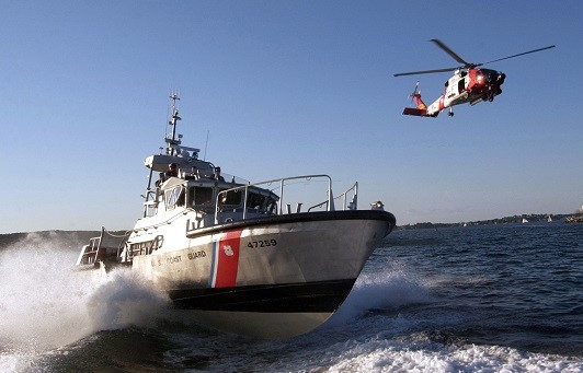 The US Coast Guard sends a small rescue boat and aircraft in response to every distress call it receives over its VHF emergency radio channel. Photo credit: USCG